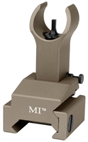 MCTAR-FFG-FDE<br>Flip Up Front Sight, Gas Block Mount Model - Flat Dark Earth