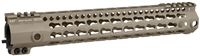 MI-G3KL12-FDE <br>MI G3 Lightweight KL-Series One Piece Free Float KeyMod Handguard - Flat Dark Earth