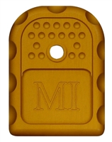 MI-GBP9/40-ONG<br>Glock 9x19/40 cal Magazine Floor Plate<br>Orange