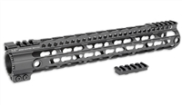 MI-LWK12-FDE<br>MI Lightweight KeyMod Series One Piece Free Float Handguard, 12-inch Rifle Flat Dark Earth