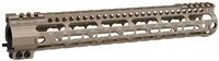 MI-LWK12G3-FDE<br> MI Gen3 Lightweight LWK-Series One Piece Free Float Handguard, KeyMod compatible - Flat Dark Earth