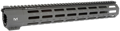 MI-SP15M-BLK <br>MI SP-Series (Suppressor Compatible) One Piece Free Float Handguard, M-LOK(TM) compatible - Black