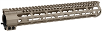 MI-SSK12G3-FDE <br>MI G3 SSK-Series One Piece Free Float Handguard, KeyMod compatible - Flat Dark Earth
