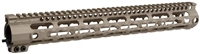 MI-SSK15G3-FDE<br> MI G3 SSK-Series One Piece Free Float Handguard, KeyMod compatible - Flat Dark Earth
