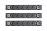 P-M-DR2.5-BLK-3<br>RailScales Dragon M-LOK(TM) HTP-2.5 Slot-3 Pack-Black