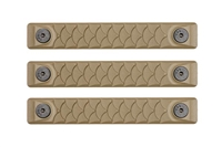 P-M-DR2.5-FDE-3<br>RailScales Dragon M-LOK(TM) HTP-2.5 Slot-3 Pack-Flat Dark Earth