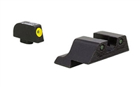 TRGL601-C-600835<br>Trijicon Glock HD XR Night Sight Set - Yellow Front Outline (9mm,.40,.45,.357 & .380) for pistols