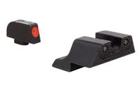 TRGL601-C-600836<br>Trijicon Glock HD XR Night Sight Set - Orange Front Outline (9mm,.40,.45,.357 & .380) for pistols